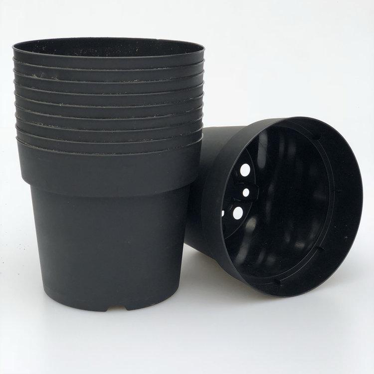 10 x zwarte potten 17cm