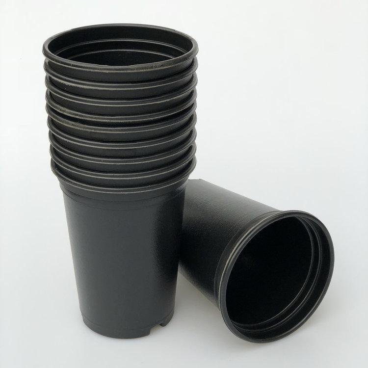 10 x zwarte potten 13cm